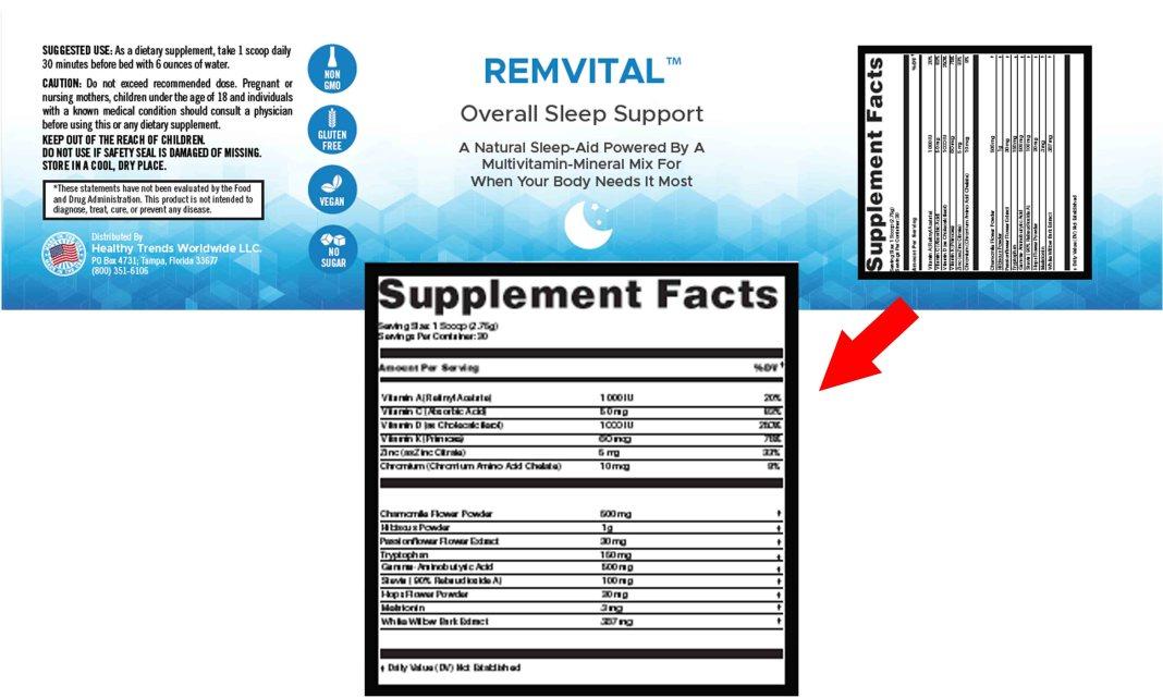 RemVital Ingredients