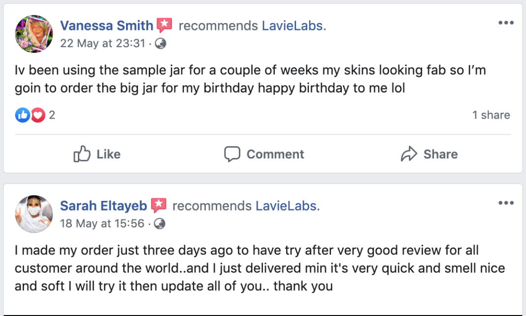 Lavie Labs Hydrolift Customer Reviews