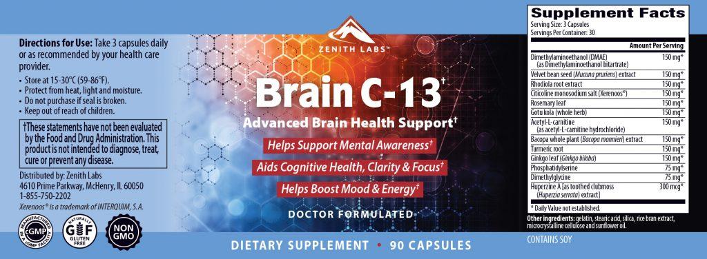 Zenith Brain C 13 Supplement
