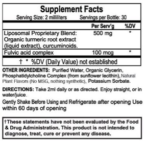 Liposomal Turmeric Ingredients