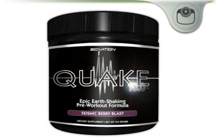 SciVation Quake 10 0 Review - Pre-Workout Formula For Enhanced Energy?