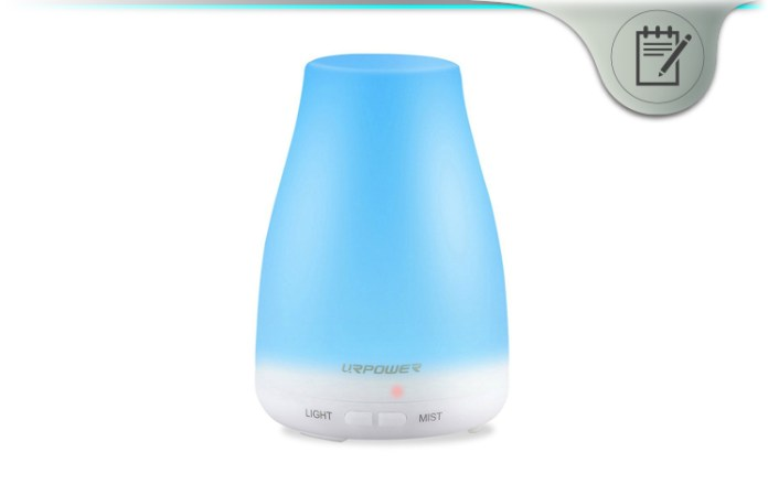 urpower essential oil diffuser review ultrasonic aroma mist humidifier. Black Bedroom Furniture Sets. Home Design Ideas