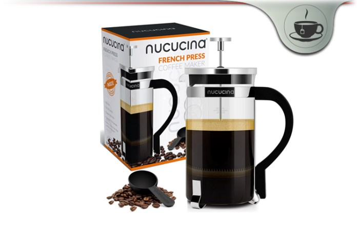 nucucina french press coffee maker review tasty tea drinks machine. Black Bedroom Furniture Sets. Home Design Ideas