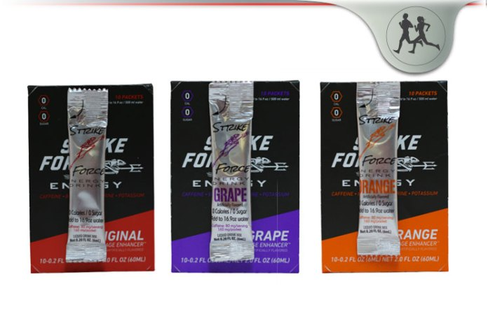 Strike Force Energy Drink No Sugar Liquid Beverage Enhancer