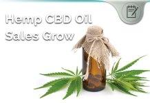 hemp cbd oil sales grow