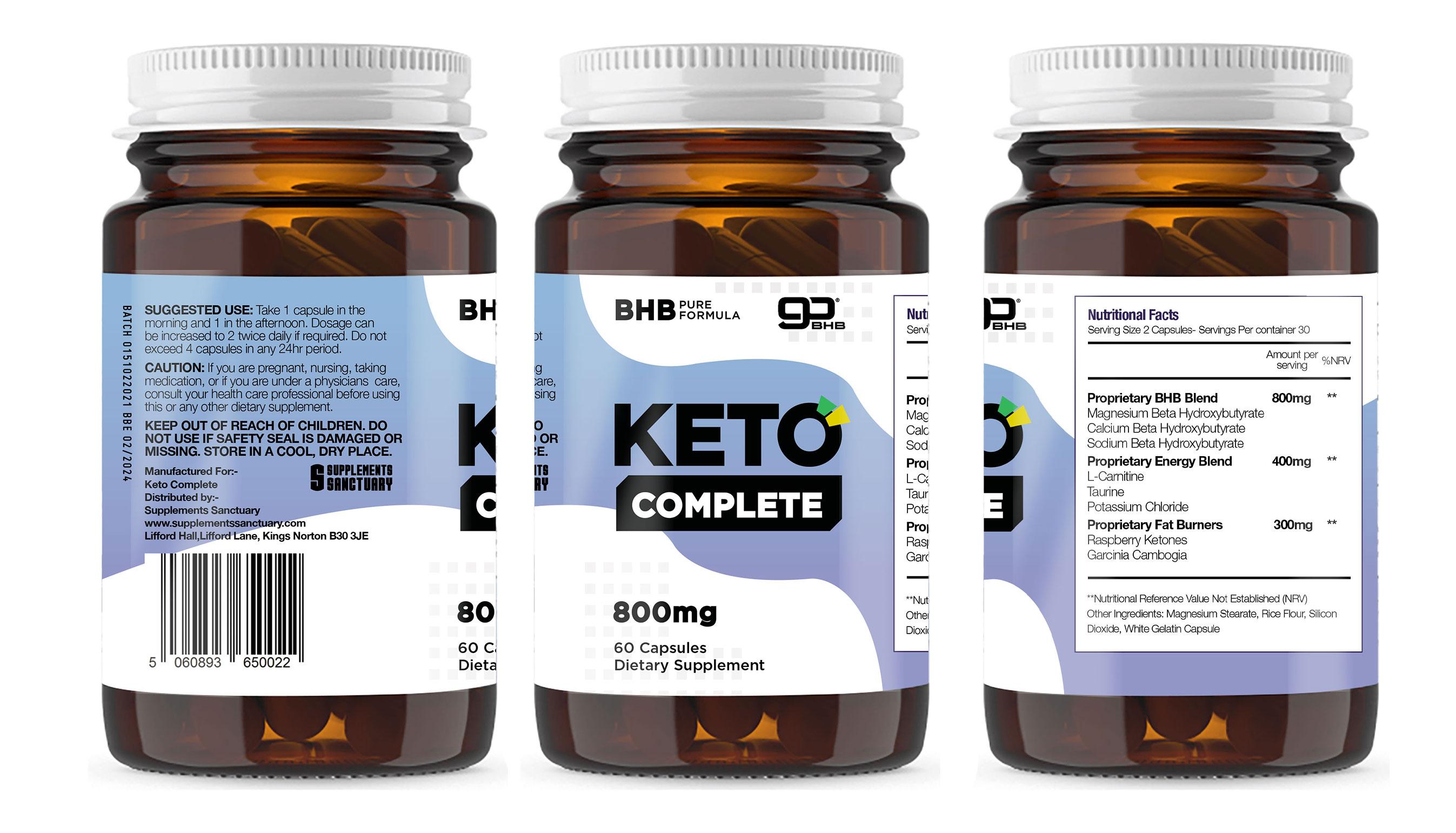 KETO COMPLETE (60 CAPSULES) – DRAGONS DEN – Supplements Sanctuary