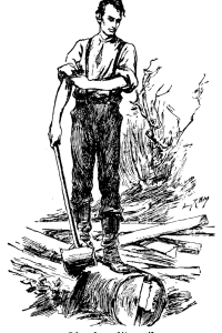 As you can see in this historically accurate drawing, Honest Abe brandishes his ax to hate-murder some vampires. Garlic
