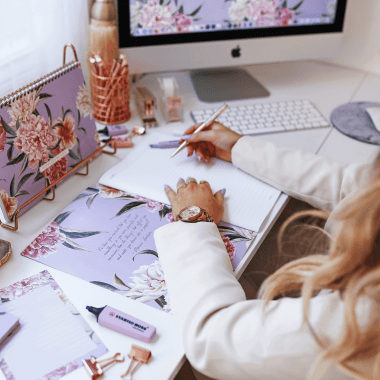A4 Notebook in Luxurious Lilac Floral