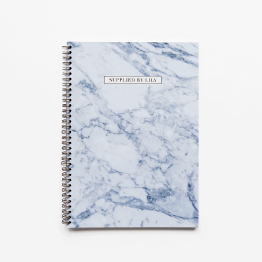 A4 Spiral Notebook in Luxurious Marble