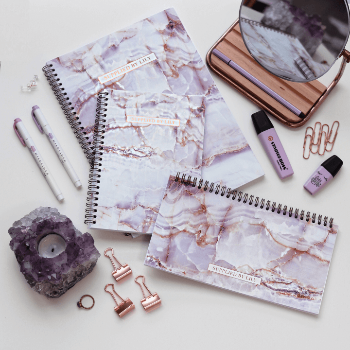 Supplied by Lily Luxury Student Stationery in Luxurious Amethyst