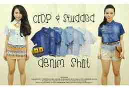 250 • @63rb • seri4wrn Rp226rb • bahan jeans & studed • fit to L kcl