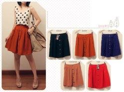 #3040.3 (only bata, black, milo) Heart Pocket Skirt - @62 - woolcrepe fit to L