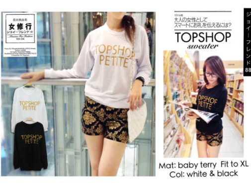 Topshop Petite Sweater bahan Babyterry fit to XL @54rb - seri4pcs Rp190rb