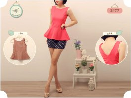 3177 bahan wedges - ecer @62 - seri 2 warna isi 4pcs 222rb- fit to L