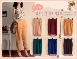Basic Editor Pants - ecer @63rb - twistcone fit to L
