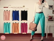 casual chic pants - ecer@62rb - seri6w 342rb -no belt - bahan serena