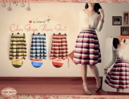 color stripe flare skirt - ecer@59 - seri4w 212rb - twistcone