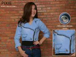 Military Zip Jacket - ecer@77rb - seri3pcs 213rb - jeans asli(tidak tipis)