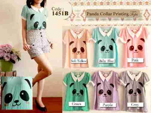 Panda collar printing top - ecer@56 - seri6w 300rb - twistcone