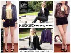 Velvet jacket - bahan Beludru fit to XL - ecer@62 - seri4w 224rb