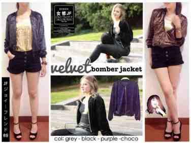 Velvet jacket - bahan Beludru fit to XL - ecer@62 - seri4w 224rb
