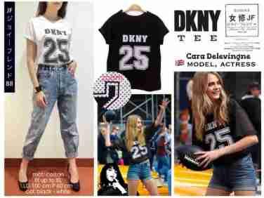25 DKNY tee - bahan kaos fit to XL - ecer@38 - seri4pc 128rb