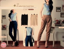 Earthy Colour Pants - ecer@61 - seri4w 224rb - bhn serena - fit to L