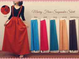 Mary Flare Suspender Skirt - ecer@68rb - seri6w 378rb - material serena