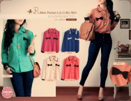 Ribbon pockets - ecer@60rb - seri6w 324rb - bahan wolly - fit to l