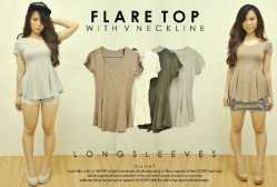 594 Flare Top - ecer@47 - seri4w 168rb - Bahan spandex - Fit to M
