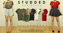 616a Studded Basic - ecer@47 - seri6w 246rb - Bahan spandex+stud - Fit to L