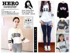 HERO Sweater - ecer@54 - seri4pcs 196rb - bahan baby terry - fit to XL
