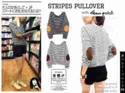 Stripe Pullover - bahan Spandex - fit to XL - ada Elbow Pad - ecer@50rb - seri4pcs 180rb