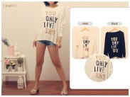 YOLO Tee - ecer@60rb - seri4pcs 216rb - cotton jersey