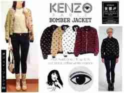 Kenzo Eye Bomber - ecer@62 - seri4w 224rb - bahan Twiscone fit to L