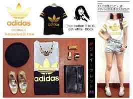 [RESTOCK BEST SELLER!!] Adidas Foil - ecer@40rb - seri 4pcs 140rb - bahan Kaos + print Foil Emas - fit to XL