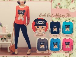 Cute Cat Stripey - ecer@47rb - seri6w 246rb - spandex - fit to L