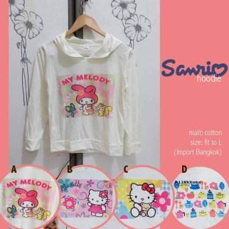 Import Bangkok - Sanrio Hoodie - ecer@62rb - seri4motif 224rb - cotton - fit to L