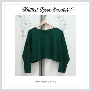 Knitted Loose Sweater - ecer@72rb - knitted - fit to L