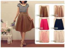 Satin Flare Skirt - ecer@80rb - seri6w 450rb - satin - fit to L