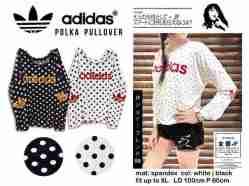 Adidas Polka Pullover - ecer@55rb - seri4pcs 200rb - bahan Spandex - fit to XL