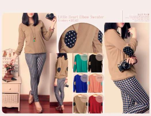 Little Heart Elbow - ecer@59rb - seri6w 318rb - wedges - fit to L