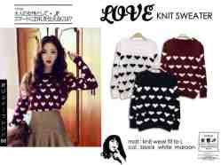 Love Knit Sweater - ecer@55rb - seri3w 150rb -bahan Rajut Tebal - fit to L