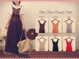 Olive Basic Overall - ecer@76rb - seri6w 420rb - fit to L - wedges