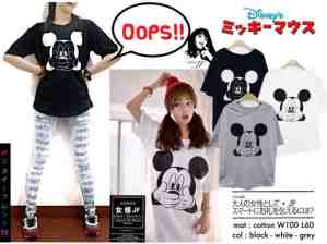 Mickey Oops Long Tees - ecer@41rb - seri3w 108rb - bahan Kaos - fit to XL(P70 LD100)
