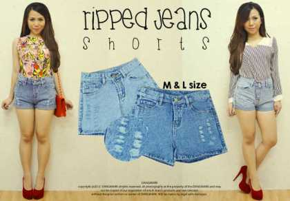 Ripped Short - ecer@70rb - seri4pcs(M&L) 260rb - jeans
