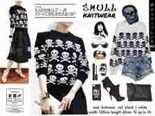Skull Knitwear - ecer@55rb - seri4pcs 200rb - bahan Rajut - fit to L