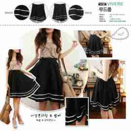 White List Korean Skirt - ecer@58rb - seri4pcs 208rb - bhn twistcone+blkg karet - fit to L