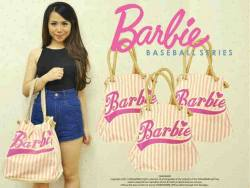BARBIE baseball - seri3pcs 140rb - bahan jeans