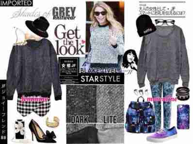 IMPORT -Blake Lively Grey Knitwear - ecer@83rb - seri4pcs 312rb -bahan Rajut Tebal - fit to XL